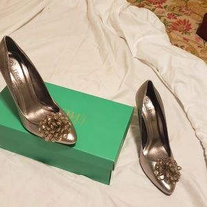 J. Renee Metallic Gold heels size 8